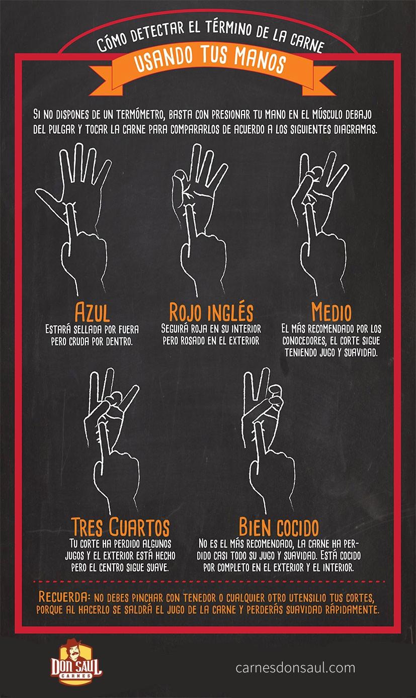 Infográfico términos de la carne