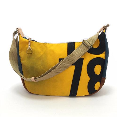 ショルダーバッグ 黄×青