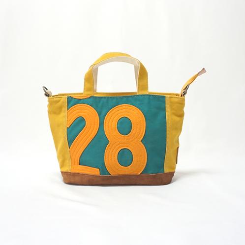 2WAYミニトート 緑×黄