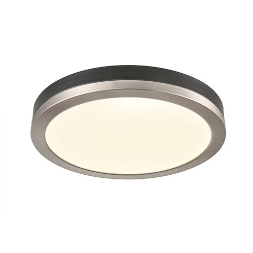DVI Satin Nickel & Graphite Flush Mount