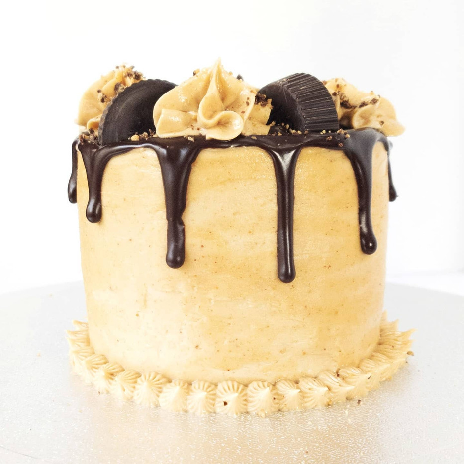 Chocolate & Peanut Butter Cake with Chocolate Ganache