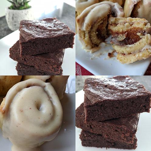 Brownies + Cinnamon Rolls Sample Box