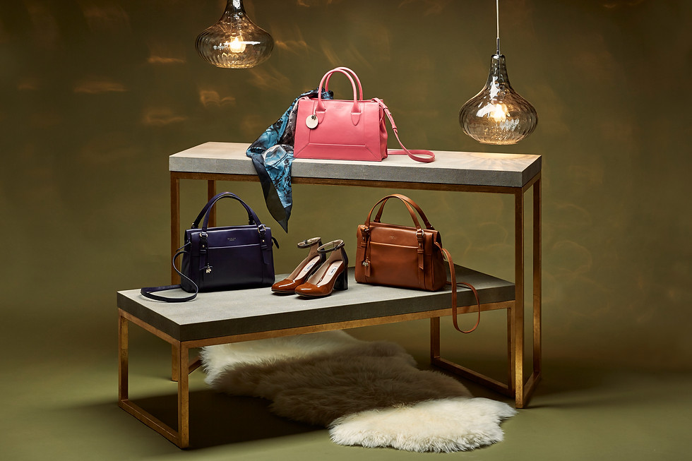 prop-stylist-london-product-stylist-london-set-design-stylist-london-handbags-accessories-shoes-radley-lulu-guinness-shop-display-gill-nicholas-stylist