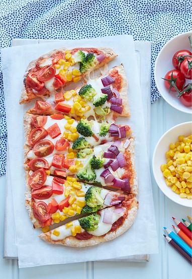 food-stylist-london-annabel-karmel-rainbow-pizza-gill-nicholas-stylist-food-photography-prop-stylist