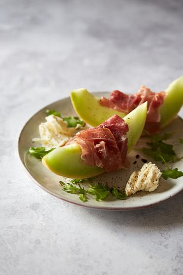 food-stylist-london-prop-stylist-london-melon-parma-ham-mozarella-elegant-food-gill-nicholas-stylist