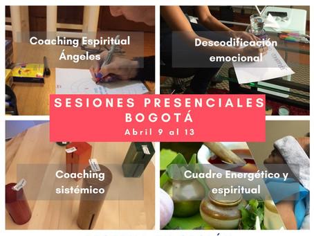 Sesiones presenciales en Bogotá. Hola amigos un saludo especial, estaré en Bogotá dando sesiones pre