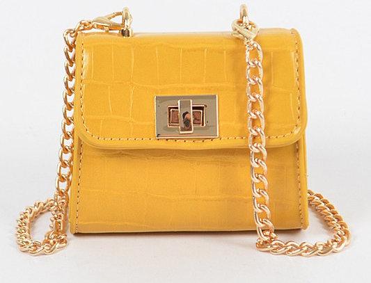 """""""Don't Touch"""" Handbag (Mustard)"""