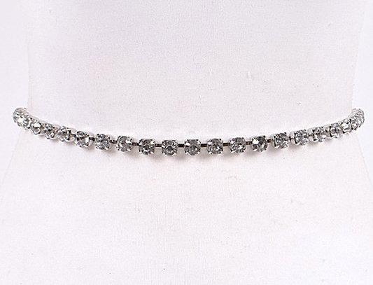 """""""Belly Dancer"""" Waist Belt (Silver)"""