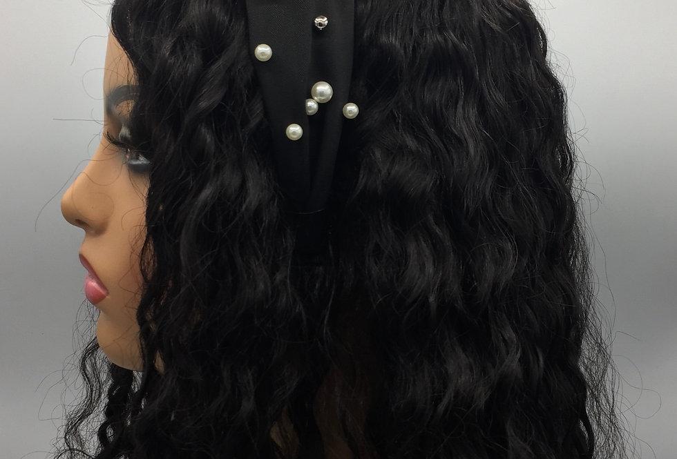 """""""It's Knot Pearls"""" Headband (Black)"""