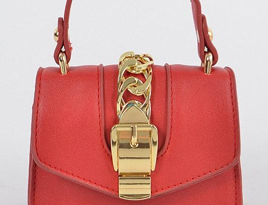 """Buckle Up"" Handbag (Red)"