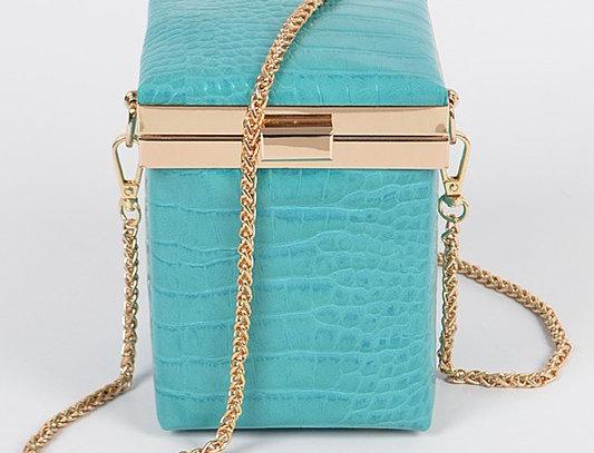 """""""Ottoman"""" Handbag (Turquoise)"""