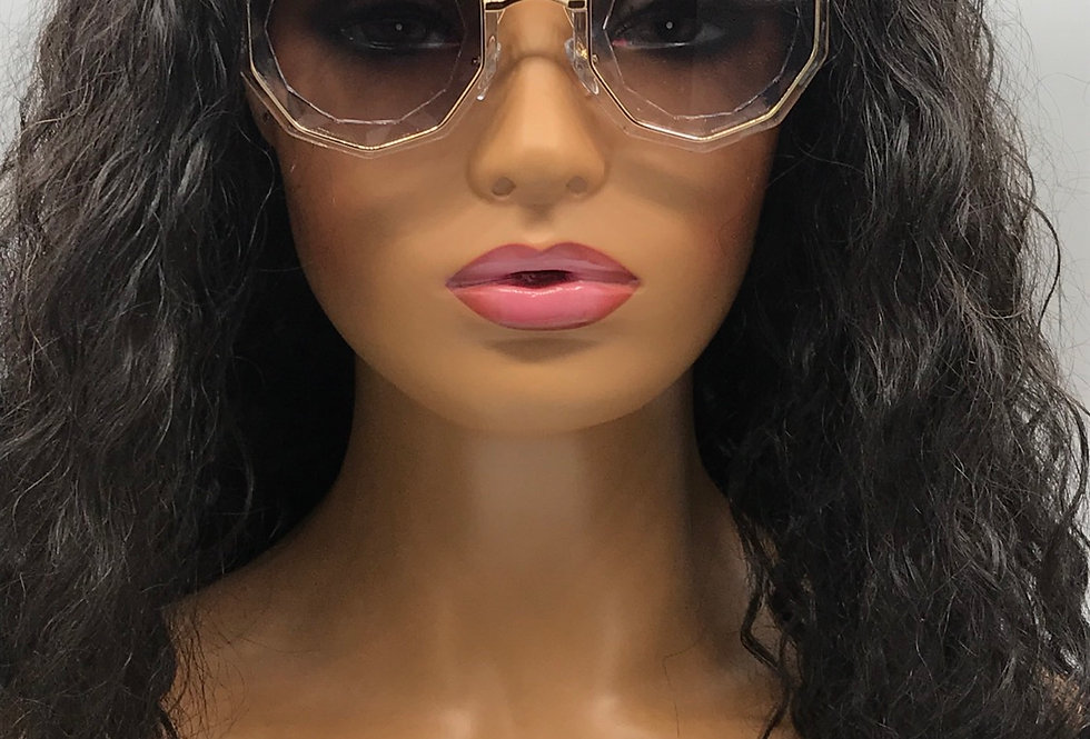 """""""Guest List"""" Sunglasses (Clear/Gold)"""