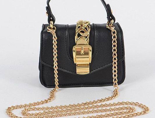 """Buckle Up"" Handbag (Black)"
