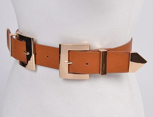 """""""STRAPPED"""" Waist Belt (Camel)"""