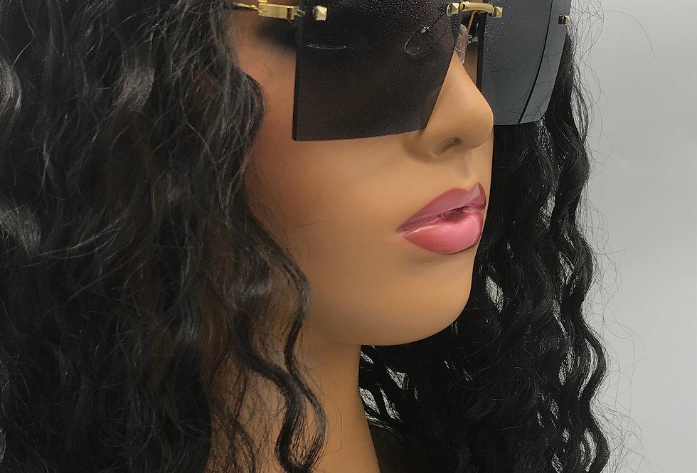 """""""On Purpose"""" Sunglasses (Black)"""
