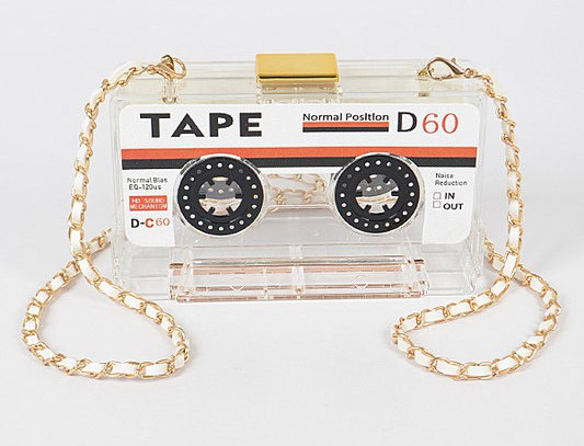 """Mix Tape"" Purse (Clear)"