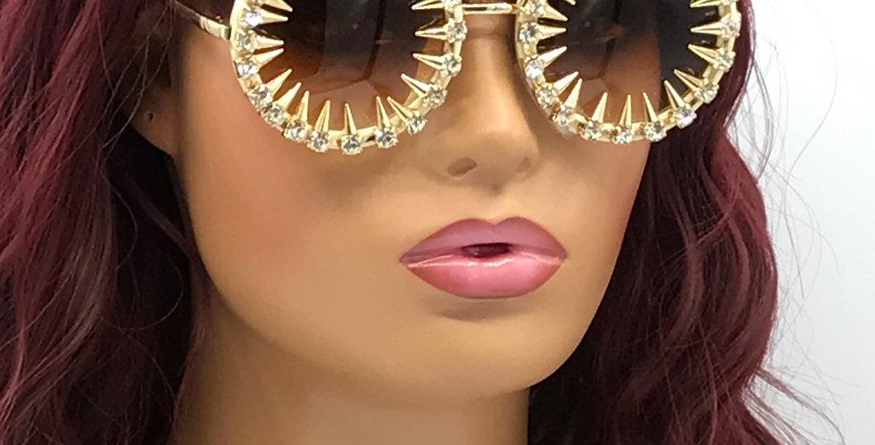 """""""Cold Stare"""" Sunglasses (Brown)"""
