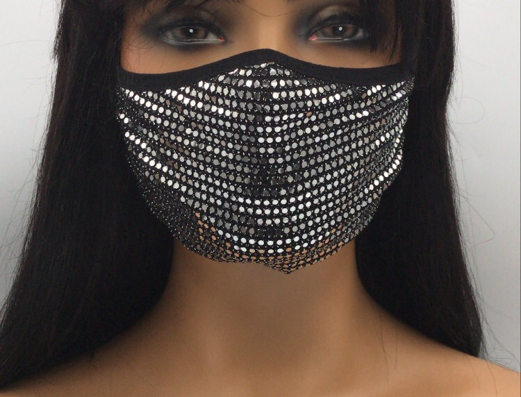 """""""Flashy"""" Fashion Mask (Clear)"""