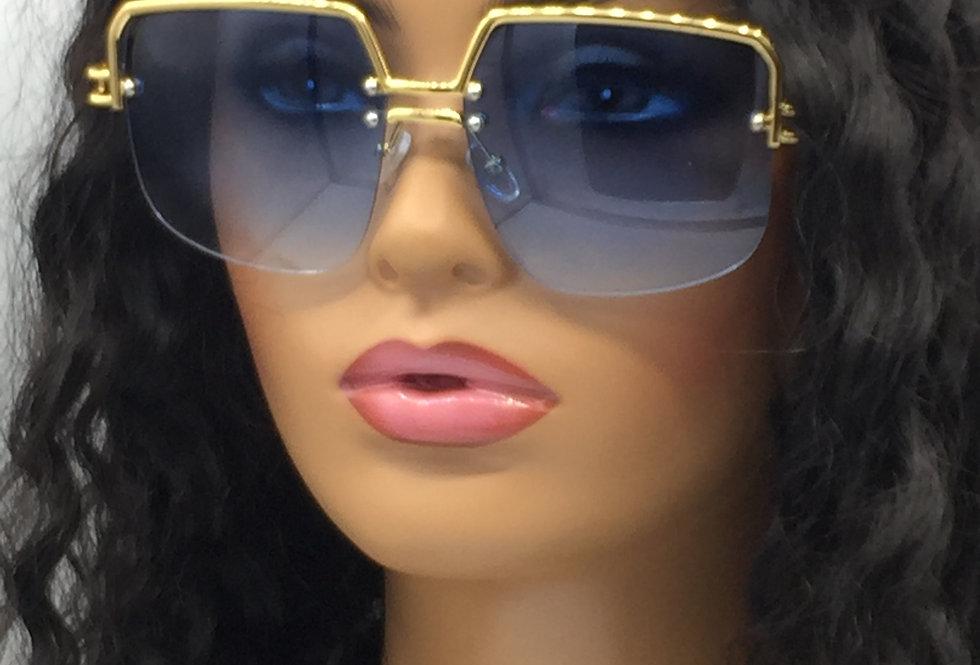"""Spotlight"" Sunglasses (Gold/Blue)"