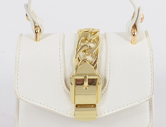 """Buckle Up"" Handbag (White)"