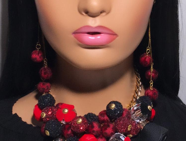 """""""Saleena"""" Chunky Jewelry Set ( 3 pieces )"""