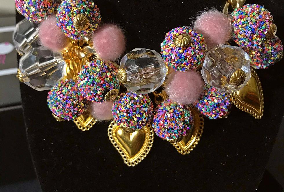 """Cotton Candy Birthday Cake"" Chunky Jewelry Set (3pcs)"