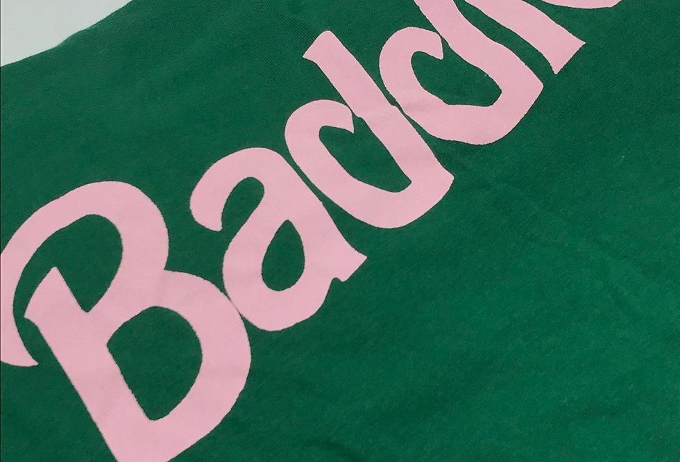 """""""Baddie"""" T-shirt (Green/Pink)"""