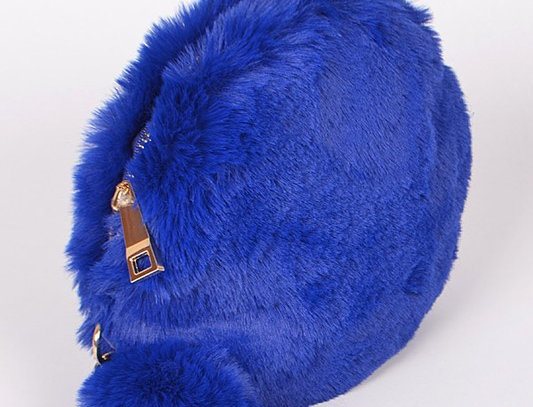 """Super Fuzzy "" Handbag (Blue)"