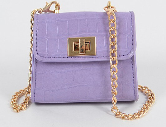 """Don't Touch"" Handbag (Purple)"