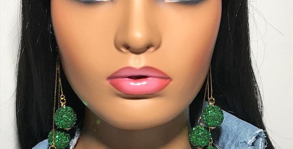 """""""Pop Out"""" Dangle Earrings (Green)"""