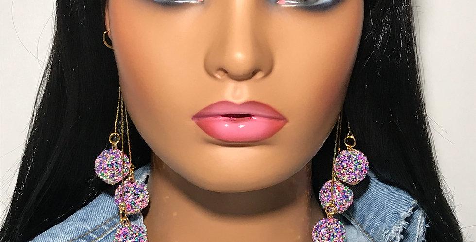 """Pop Out"" Dangle Earrings (Multi Color)"