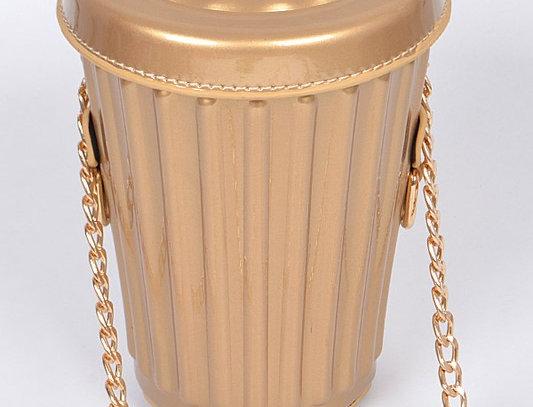 """ Grouchy "" Handbag ( Gold )"