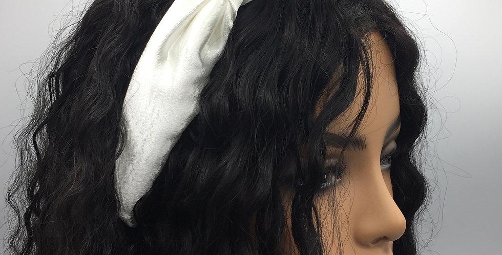 """""""Puffy Satin"""" Headband (White)"""