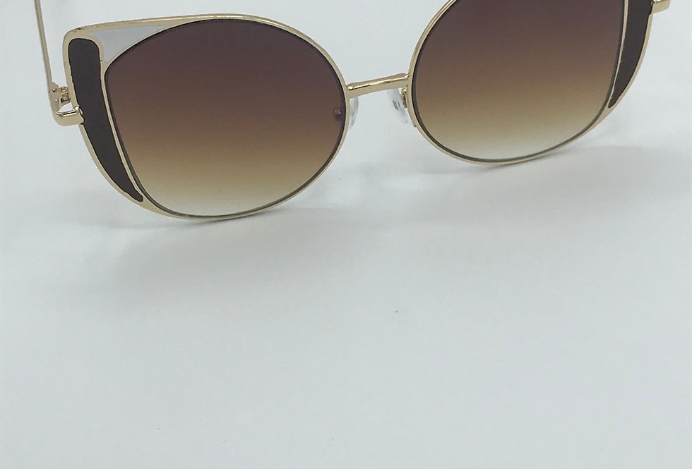 """Press Play"" Sunglasses (Brown)"