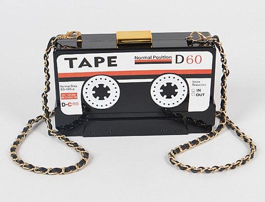 """Mix Tape"" Purse (Black)"