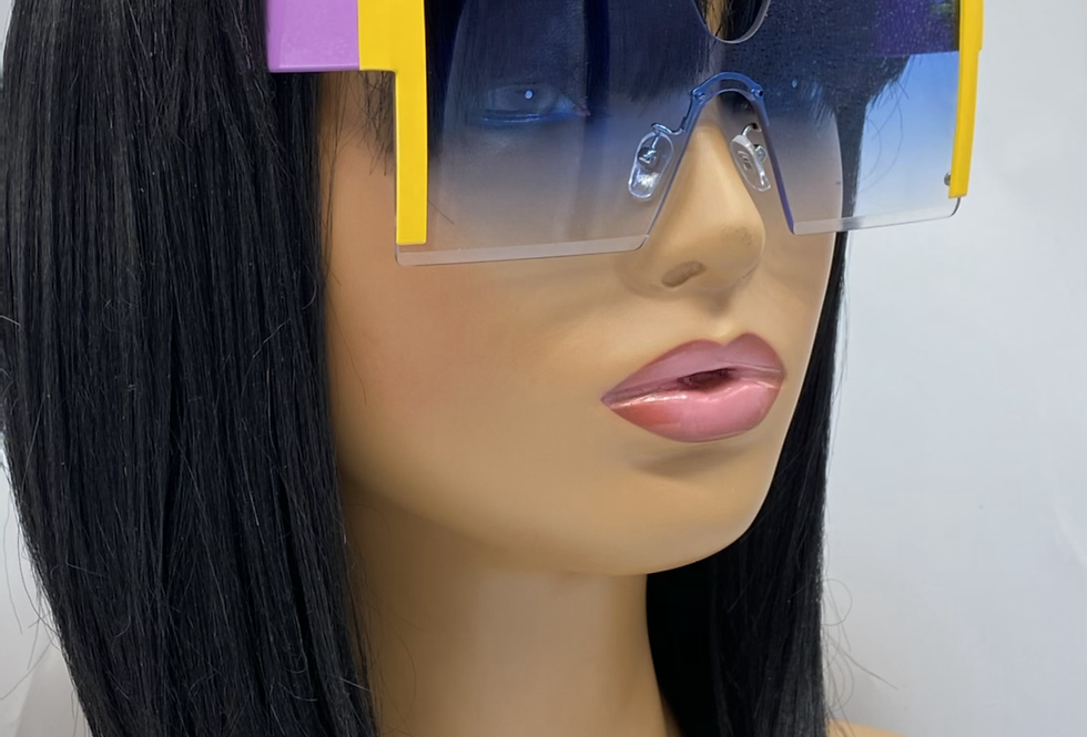 """""""For Me"""" Sunglasses (Lavender/Yellow)"""