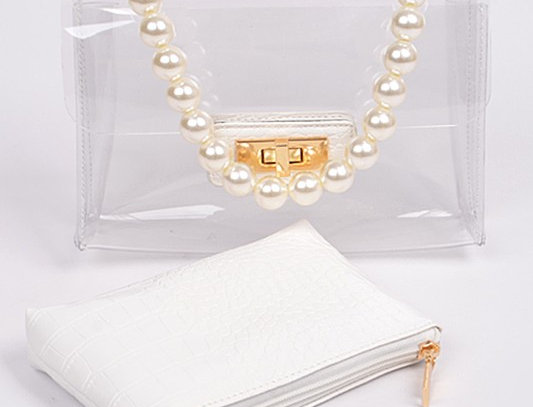 """A Little CoCo"" Handbag (White)"