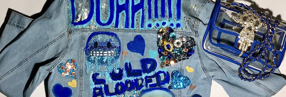 """""""Cold Blooded"""" Light Denim w/ Matching Cobalt Purse"""
