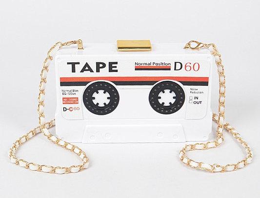 """Mix Tape"" Purse (White)"