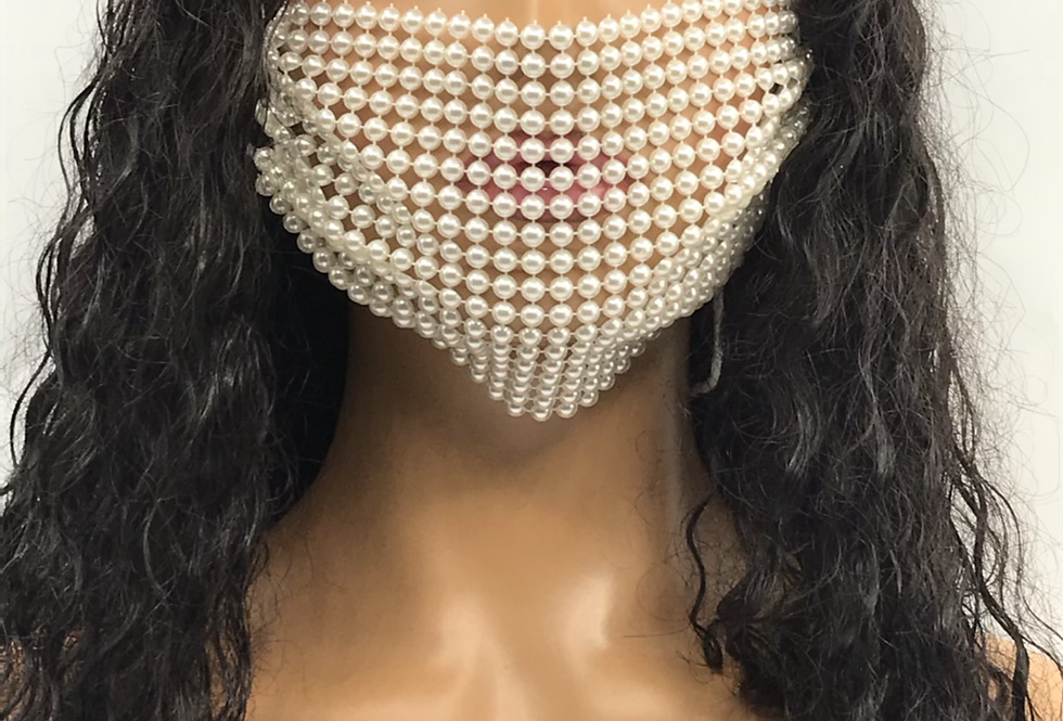 """""""Popping Pearl"""" Fashion Mask"""