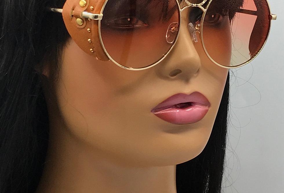 """Direct Deposit"" Sunglasses (Brown/Red Tint)"
