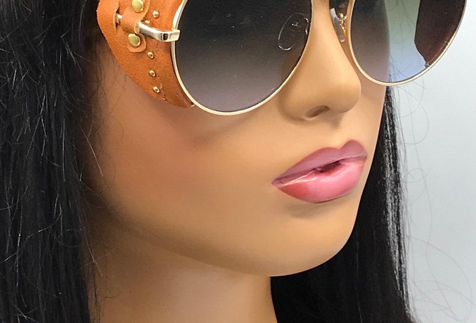 """Direct Deposit"" Sunglasses (Brown/Blue Tint)"