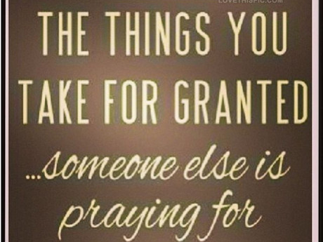 Taking it for Granted