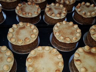 We have decorated our first Simnel cakes - its a real labour of love.