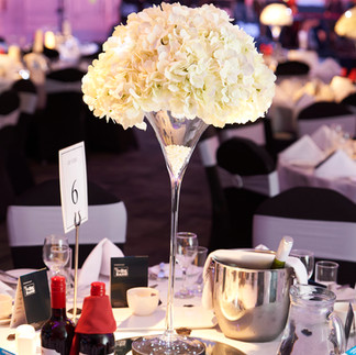 Table centrepieces - Decor Hire West Sussex - McCullough Moore Event Hire