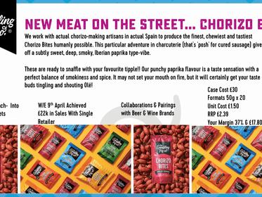 new meat on the street...chorizo bites!