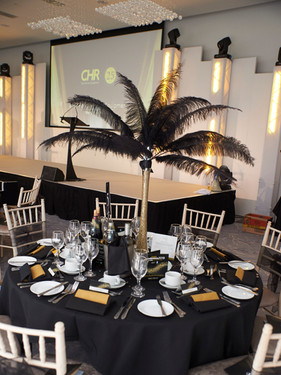 Black Feathers in Tall Vase Code: T0012 £20.00 + VAT Includes Mirror Base Plate