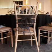 Black Chair Sash - Decor Hire West Sussex