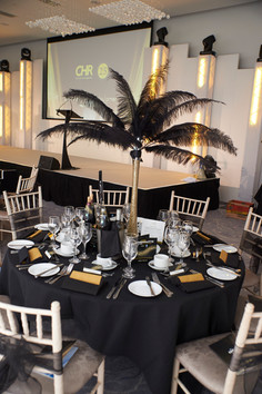 Black and Gold Awards Dinner - Decor Hire West Sussex