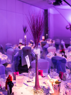Purple Display in Tall Vase Code: T008 £15.00 +VAT Includes Mirror Base Plate